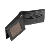 Prima Bi-Fold Leather Wallet with Front I.D. Flap