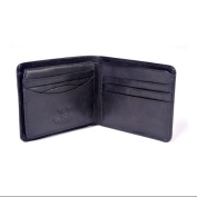 Tony Perotti Mens Italian Cow Leather Classic Bifold Wallet with ID Window Flap in Black