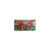Anuschka 1095-LLY Luscious Lilies Accordion Flap Wallet