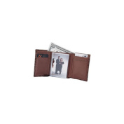 Budd Leather US 21-2 Crocodile Bidente Trifold Brown