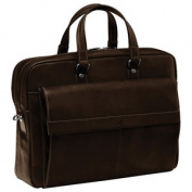 Mancini Colombian Double Compartment Leather Laptop Briefcase