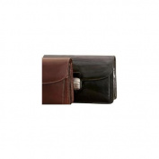 Veneto Leather Horizontal Flap-Over Carry All Bag