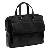 Mancini Colombian Slim Leather Laptop Briefcase