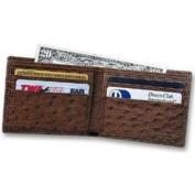 Budd Leather US 97-2 Genuine Ostrich Slim Wallet Brown