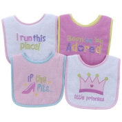 Parent's Choice Girls' Baby Bib, Icon, 4-Pack
