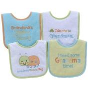 Parent's Choice Neutral Baby Bib, Grandma, 4-Pack