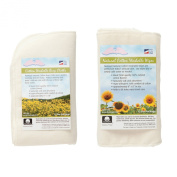 NuAngel All-Natural Single Layer Cotton Burp Cloths & All-Natural Washable Cotton Wipes Set, White