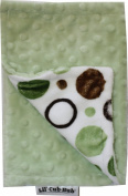 Lil Cub Hub BCGCGD Burp Cloth - Green & Brown Circle Print with Sage Dot