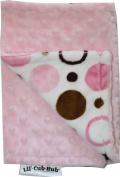 Lil Cub Hub BCPBCP Burp Cloth - Pink & Brown Circle Print with Pink Dot