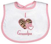 Raindrops A74535P Raindrops I love Grandpa Appliqued Bib, Pink
