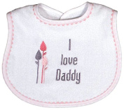 Raindrops 6225D Raindrops -I love Daddy- Embroidered Bib, Pink
