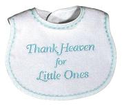 Raindrops 6555A Raindrops -Thank Heaven for Little Ones- Embroidered Bib, Aqua