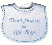 Raindrops 6555B Raindrops -Thank Heaven for Little Boys- Embroidered Bib, Blue