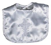 Raindrops 7200B Raindrops Satin Christening Embroidered Unisex Bib