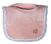 Raindrops 6120P Raindrops Girl Appliqued Lace Bib, Pink