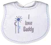 Raindrops 6224D Raindrops -I love Daddy- Embroidered Bib, Blue