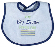 Raindrops 6714S Raindrops -Big Sister Loves Me- Embroidered Bib, Blue