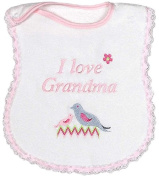 Raindrops 6751M Raindrops -I Love Grandma- Embroidered Bib, Pink