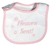 Raindrops 6470P Raindrops -Heaven Sent- Embroidered Bib, Pink