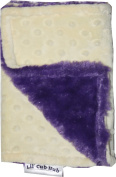 Lil Cub Hub BCYDPR Burp Cloth - Yellow Dot with Purple Rosebud Swirl