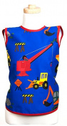 Flirty Aprons BB-1006-2PK Boys Lullabib Kids Bib - Trucks and Tractors - 2 Pack