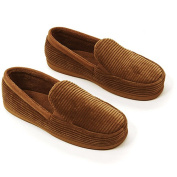 Dearfoams - Men\'s Cord Moccasin Slippers