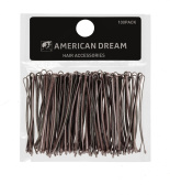 American Dream Straight Bobby Pins, Brown 2-inch/ 5 cm - Pack of 100
