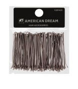 American Dream Straight Bobby Pins, Brown 2.5-inch/ 6.35 cm - Pack of 100