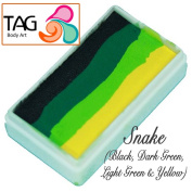 TAG Body Art One Stroke Professional Face Paint Cake (30g) ~ Snake