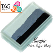 TAG Body Art One Stroke Professional Face Paint Cake (30g) ~ Magpie