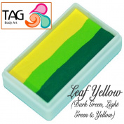 TAG Body Art One Stroke Professional Face Paint Cake (30g) ~ Leaf Yellow