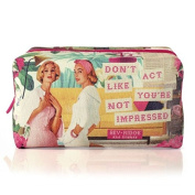 """Bev Ridge, Retro Floral Canvas Wash bag, """" Don't act like you're not impressed"""""""