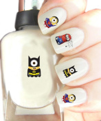 Despicable Me Minions Marvel Characters Nail Art.