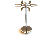 Quality Shaving Razor and Shaving Brush Stand.Chrome Finish