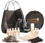 RapidtanPRO HVLP Airbrush Spray Tanning Kit with Tent, 7x Tan Solutions & More