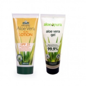 Aloe Pura SPF25 Suncream and Aloe Vera Gel