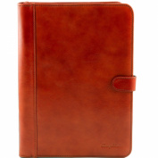 Tuscany Leather Adriano - Leather document case with button closure Honey