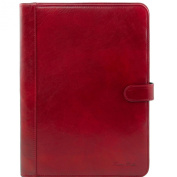 Tuscany Leather Adriano - Leather document case with button closure Red