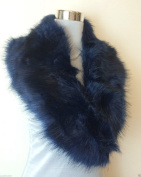 New NAVY BLUE Gorgeous Fluffy Faux Fur Collar Stole Wrap Neck Warmer Scarf
