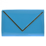 Patent Everyday Envelope Style Front Flap Clutch Evening Wallet Messenger Purse Handbag Shoulder Bag