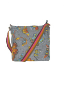 Butterfly Canvas Bag Grey - Women's Cross Body Tote Beach & Shopper Cotton Fabric Canvas Travel Bags