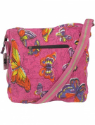 Butterfly Shoulder Bags for Women Pink - Ladies Cross Body Tote Beach & Shopper Canvas Ladies Bag