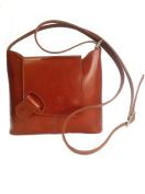 Stylish Genuine Italian Leather Cognac Messenger Bag, Cross Body Bag, Shoulder Bag or Handbag
