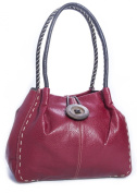 Big Handbag Shop Designer Boutique Faux Leather Button Detail Handbag
