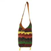 Assorted Reclaimed Hand Embroidered, Pasted Patchwork Cotton Jhola Bag
