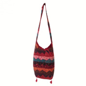 Hand Embroidered, Pasted Assorted Reclaimed Patchwork Cotton Jhola Bag