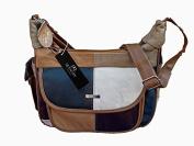 Italian Leather Ladies Handbag Patchwork Soft Leather Shoulder Bag Quenchy QL822