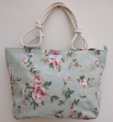 Designer Floral Canvas Shoulder Tote Bag Handbag