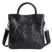 SAIERLONG Women's Tote Single Shoulder Bag Cross Body Bag Handbag Cow Leather