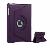 High Grade Premium 360 Degree rotation Purple Horizontal & Vertical View Leather Cover For Apple iPad Mini by G4GADGET®